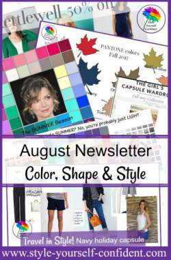 Style Yourself Confident monthly Newsletter for Color, Body Shape and Style http://www.style-yourself-confident.com
