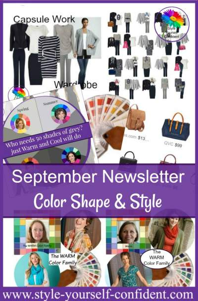 Style Yourself Confident - Color Shape and Style whatever your age, shape or size!  http://www.style-yourself-confident.com/