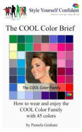 Cool Color Brief - How to wear and enjoy the Cool color family with 45 colors #color analysis books #Cool  http://www.style-yourself-confident.com/books-and-ebooks.html