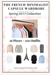 The French minimalist capsule wardrobe Spring 2017 #capsulewardrobe #Frenchcapsulewardrobe #Winteroutfits 2017 https://transactions.sendowl.com/stores/6676/29996