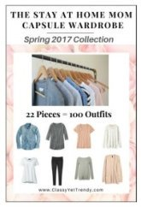 The Stay at Home Mom capsule wardrobe Spring 2017 #capsulewardrobe #StayathomeMom #Springoutfits 2017 https://transactions.sendowl.com/stores/6777/29996