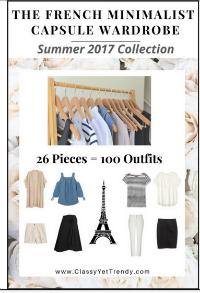 French Minimalist Capsule Wardrobe Plan Summer 2017 #capsulewardrobe #Frenchwardrobeplan #Summeroutfits 2017  https://transactions.sendowl.com/stores/7059/29996