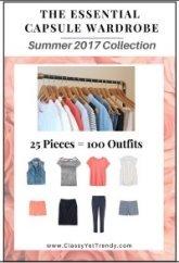 Spring 2017 Essential Capsule Wardrobe plan #capsulewardrobe #essential capsule #Summeroutfits 2017 https://transactions.sendowl.com/stores/7052/29996