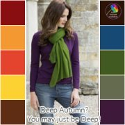 Don't dilute the Autumn palette - it's always DEEP, always SOFT and always WARM.  #autumn coloring #color analysis https://www.style-yourself-confident.com/12-season-color-analysis.html