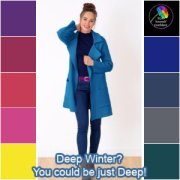 Don't dilute the Winter palette - it's always DEEP, always COOL and always BRIGHT.  #winter coloring #color analysis https://www.style-yourself-confident.com/12-season-color-analysis.html