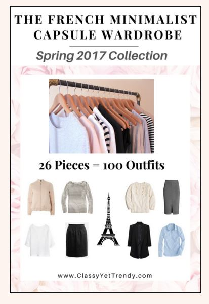 The French minimalist capsule wardrobe Spring 2017 #capsulewardrobe #Frenchcapsulewardrobe #Winteroutfits 2017 https://transactions.sendowl.com/stores/6676/29996