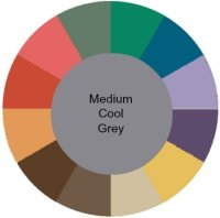 Muted with cool grey