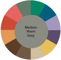Muted with warm grey