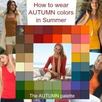 How to wear Autumn colors in Summer #autumncolors #autumninsummer https://www.style-yourself-confident.com/autumn-colors-in-summer.html