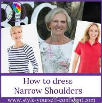 Flatter narrow shoulders #narrowshoulders  https://www.style-yourself-confident.com/narrow-shoulders.html