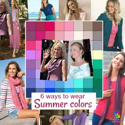 How to wear Summer colors #summercolors #coloranalysis https://www.style-yourself-confident.com/wear-summer-colors.html