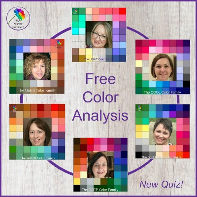 Free Color Analysis Quiz #coloranalysis #onlinecoloranalysis https://www.style-yourself-confident.com/free-color-analysis.html