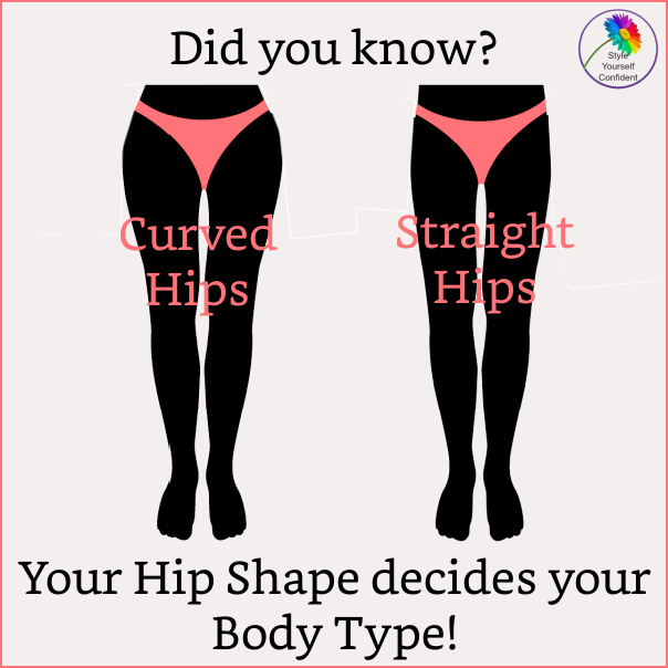 It's HIP SHAPE that decides your Body Type! #bodytype #bodyshape #hips #hipshape     https://www.style-yourself-confident.com/body-type.html