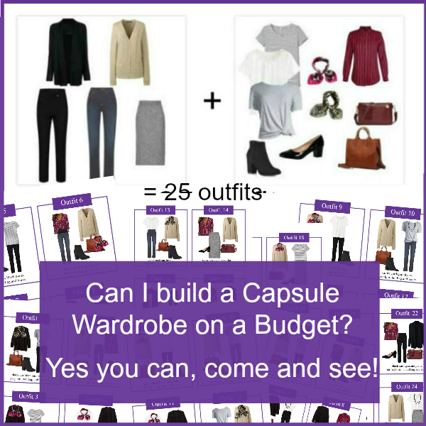 Capsule Wardrobe on  aBudget? You sure can!  https://www.style-yourself-confident.com/capsule-wardrobe-on-a-budget.html #budgetcapsule #capsulewardrobeonabudget #capsulewardrobe
