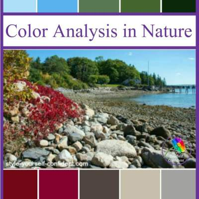 Color Analysis in Nature #coloranalysis #coloranalysisinnature https://www.style-yourself-confident.com/color-analysis-in-nature.html