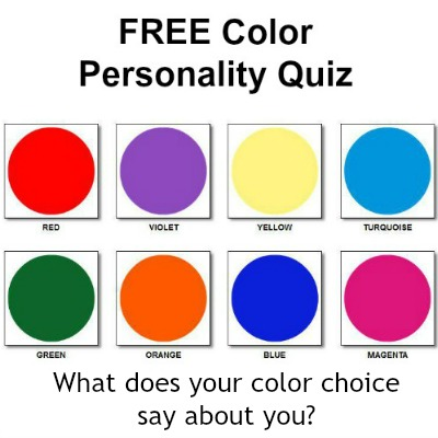 Free Color Personality Quiz - what does your color choice say about you? #colorpersonalityquiz #freecolorquiz https://www.style-yourself-confident.com/free-color-personality-quiz.html