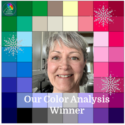 Winner of the Color Analysis competition is Helen from Canada #coloranalysiscompetition #coloranalysiswinner #onlinecoloranalysis https://www.style-yourself-confident.com/color-analysis-winner.html