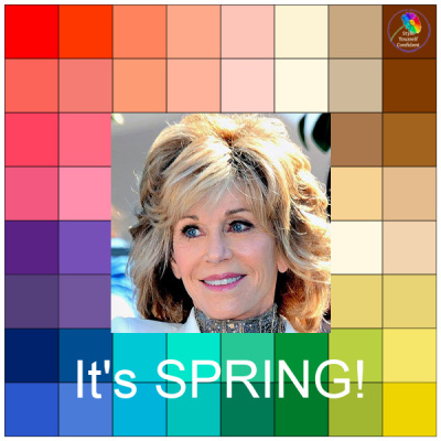 It's Spring #springseason #springcolors #coloranalysisspring https://www.style-yourself-confident.com/seasonal-color-analysis-spring.html