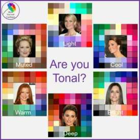 Tonal Color Analysis works with and complements Seasonal! #tonalcoloranalysis #coloranalysis  https://www.style-yourself-confident.com/tonal-color-analysis.html