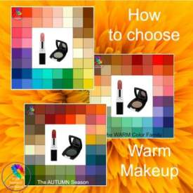 Wear Warm makeup to complement your Warm skin so you'll always look your best. #warmmakeup #warmskin #warmcolors https://www.style-yourself-confident.com/warm-makeup.html