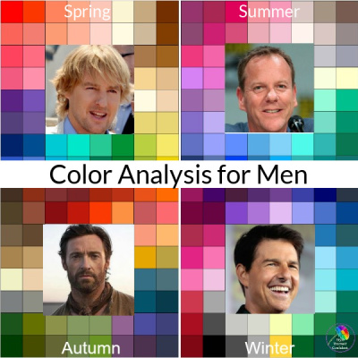 Color Analysis for men #colorformen #coloranalysis #coloranalysisformen https://www.style-yourself-confident.com/color-analysis-for-men.html