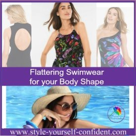 How to choose Flattering Swimwear for your Body Shape #swimwear #flatteringswimwear #bodyshape https://www.style-yourself-confident.com/flattering-swimwear.html