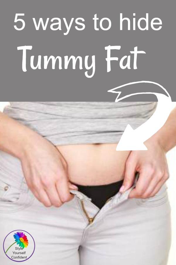 5 ways to hide Tummy FAt #tummyfat #tummybulge https://www.style-yourself-confident.com/hide-tummy-fat.html