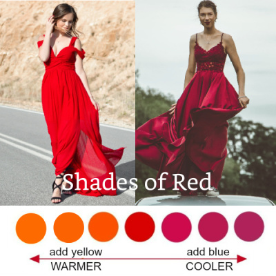 Shades of red #shadesofred #red #howtowearred https://www.style-yourself-confident.com/shades-of-red.html