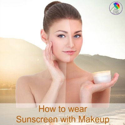 How to wear sunscreen with makeup #sunscreenwithmakeup #suncare https://www.style-yourself-confident.com/sunscreen-with-makeup.html
