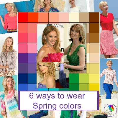 How to wear Spring colors #springseason #springcolors #coloranalysis https://www.style-yourself-confident.com/wear-spring-colors.html