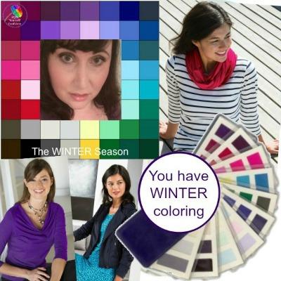 Wear WINTER colors in Summer #wintercolors #wintercolorsinsummer #winterseason https://www.style-yourself-confident.com/winter-colors-in-summer.html