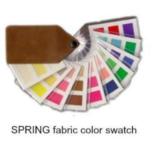 Spring fabric color swatch  #spring color family #clear spring #color analysis https://www.style-yourself-confident.com/clear-spring.html