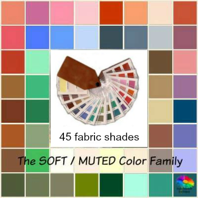 Muted tonal coloring #Muted color family #color analysis swatch http://www.style-yourself-confident.com/muted-tonal-coloring.html
