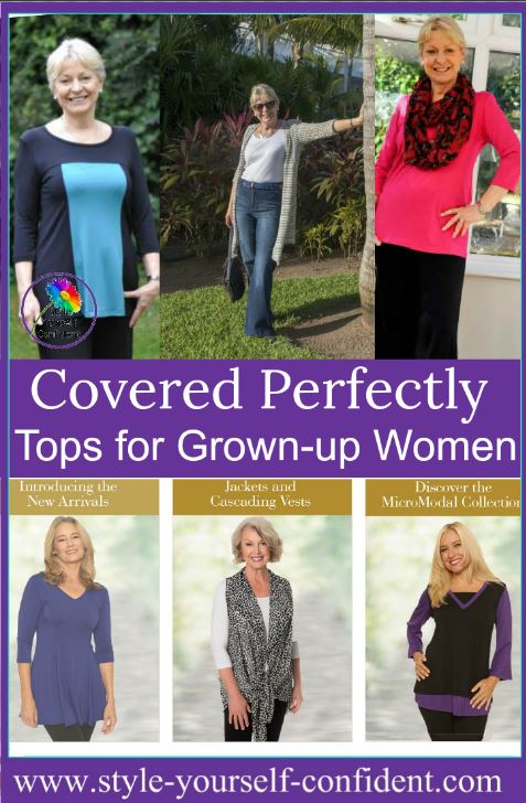 Covered Perfectly tops for women over 40 Natural breathable fabric  #Covered Perfectly #womenstops #over40 https://coveredperfectly.com/collections/micromodal/fit-and-flare.html?cid=51