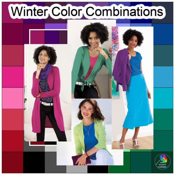 The Winter Season #Winter season #color analysis https://www.style-yourself-confident.com/seasonal-color-analysis-winter.html