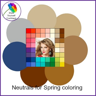 Neutrals for Spring coloring #neutrals for Spring #color analysis Spring https://www.style-yourself-confident.com/neutrals-for-spring-coloring.html