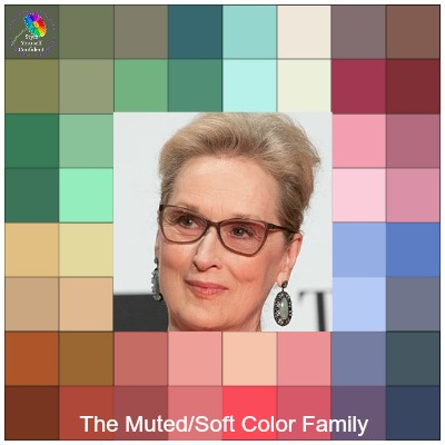 The SOFT/MUTED Color Family  #mutedcolors #soft/muted  https://www.style-yourself-confident.com/color-analysis-muted.html