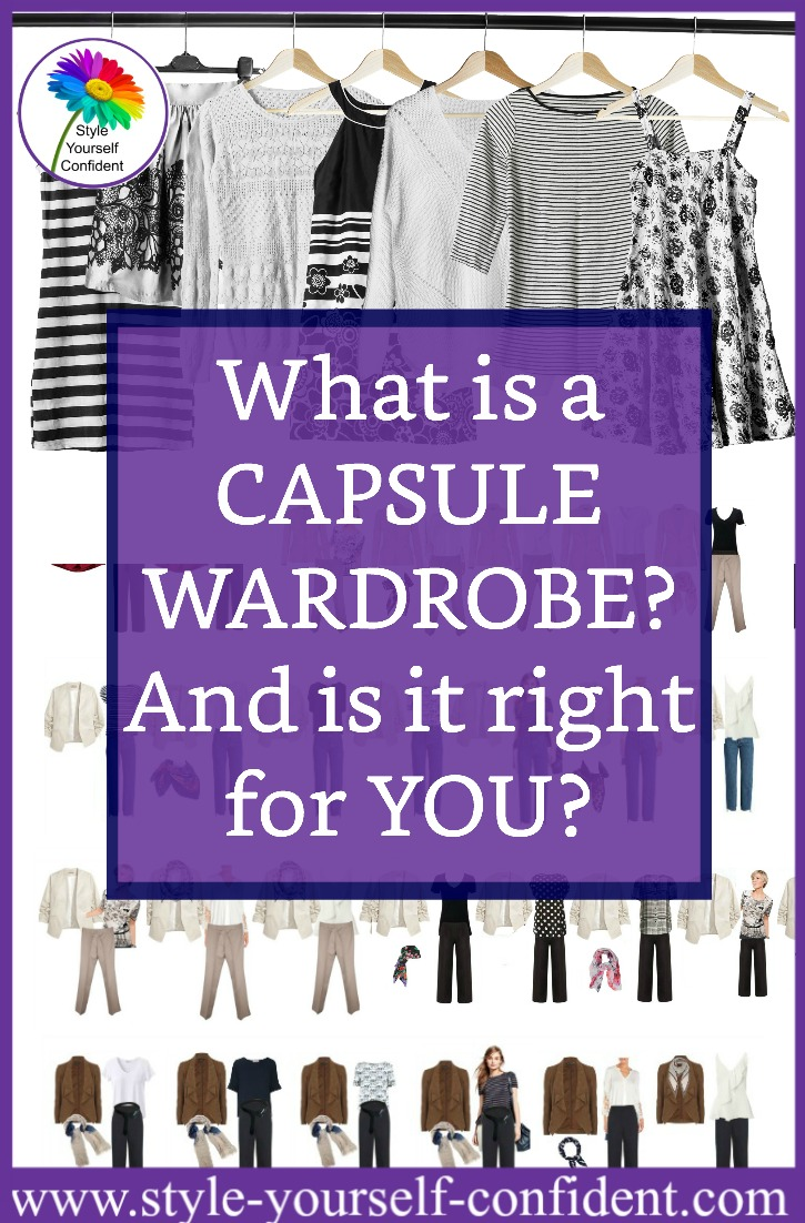 Capsule Wardrobe - a small collection of basic neutrals which can be mixed and matched with accessories to make many differen outfits.  https://www.style-yourself-confident.com/a-capsule-wardrobe.html