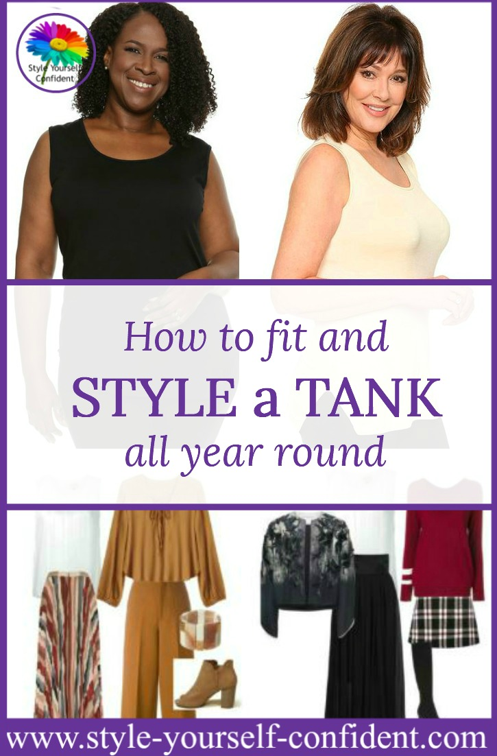 How to fit and Style a Tank all year round. It's one of the most versatile and valuable items in your capsule wardrobe. https://www.style-yourself-confident.com/