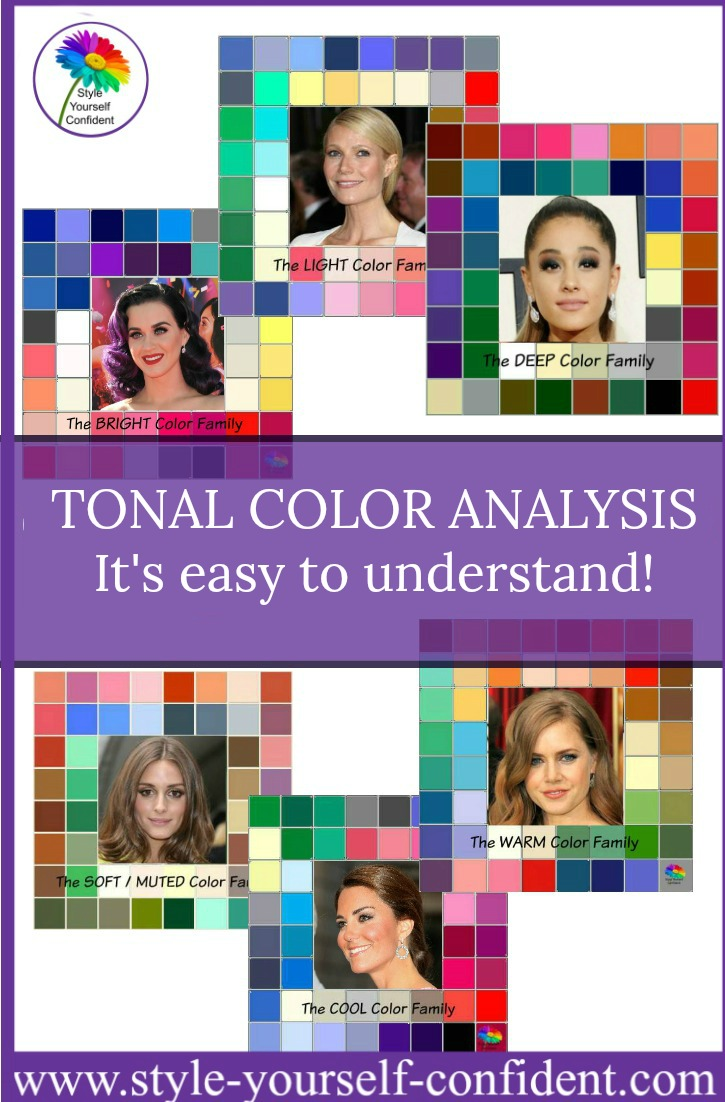 Tonal Color Analysis #color analysi #tonal color families  https://www.style-yourself-confident.com/tonal-color-analysis.html