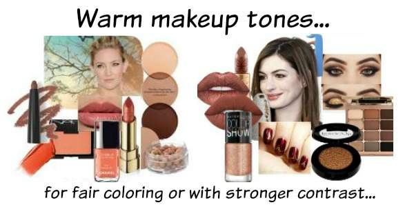 Warm makeup tones for Warm natural coloring #warm coloring #warm makeup #warm skin tone http://www.style-yourself-confident.com/warm-skin-tone.html