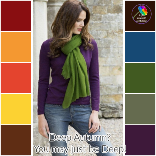 Autumn is always Deep, always Warm and always Muted - you may be diluting your color palette #deep autumn #color analysis  https://www.style-yourself-confident.com/deep-autumn.html