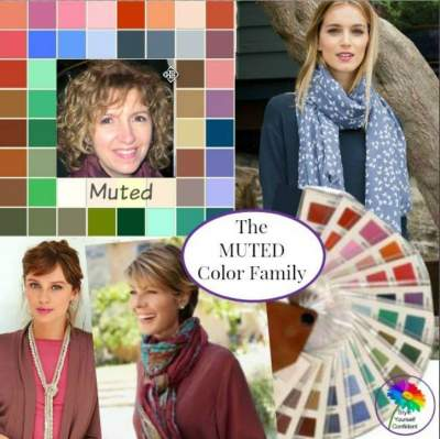 The MUTED Color Family #mutedcolors #coloranalysis https://www.style-yourself-confident.com