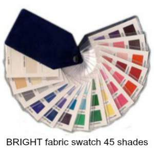 Bright fabric swatch 45 colors  #color analysis swatch #bright color family #Dawn French #color analysis http://www.style-yourself-confident.com/how-color-analysis-works.html