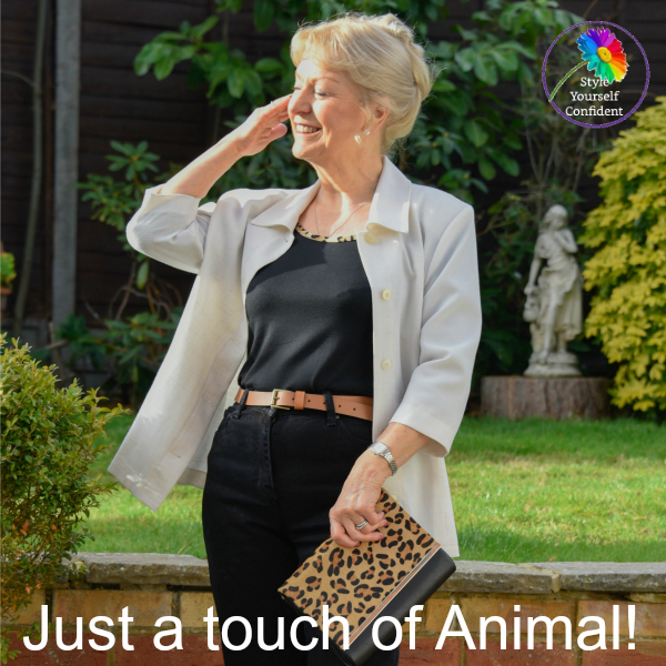 Covered Perfectly a touch of animal #coloranalsis #coveredperfectly https://www.style-yourself-confident.com