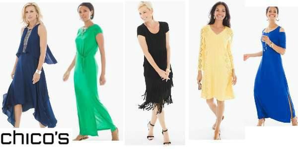 Dresses to suit a Petite Apple shape body  #apple shape #petite apple shape #Chico's #dresses https://www.style-yourself-confident.com/petite-apple-shape.html