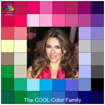 Cool makeup for cool skin tones  #coolmakeup #coloranalysiscool #lookfabulousforever #Elizabeth Hurley https://www.style-yourself-confident.com/cool-makeup.html