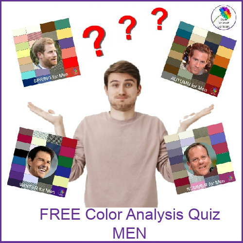 FREE Color Analysis for men #coloranalysisformen #bodyshape #colorandstyle https://www.style-yourself-confident.com/