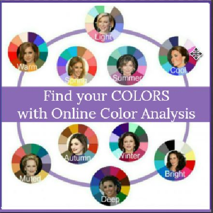 Online Color Analysis will identify your best color palette  #color analysis https://www.style-yourself-confident.com/online-color-analysis.html