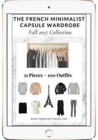 The French Minimalist Capsule Wardrobe plan Fall 2017 https://transactions.sendowl.com/stores/7556/29996